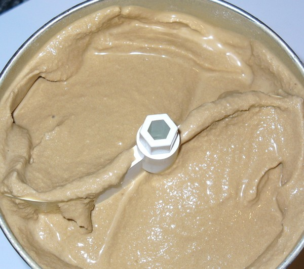 coffee ice cream finished in maker