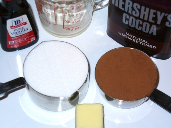 Ingredients for Fudge Sauce
