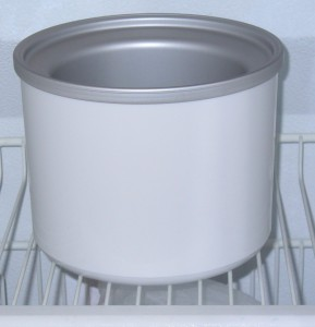 Freezing Cuisinart Ice Cream Maker freezer bowl